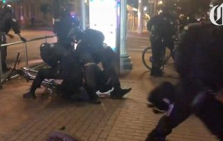 video:-all-hell-breaks-loose-as-portland-demonstrator-attacks-police-officer